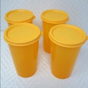 Tupperware 16oz tumblers with seals
